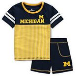 Toddler Colosseum Navy Michigan Wolverines Halifax T-Shirt & Shorts Set