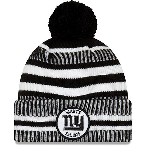 Men's New Era Black New York Giants 2019 NFL Sideline Home Sport Knit Hat
