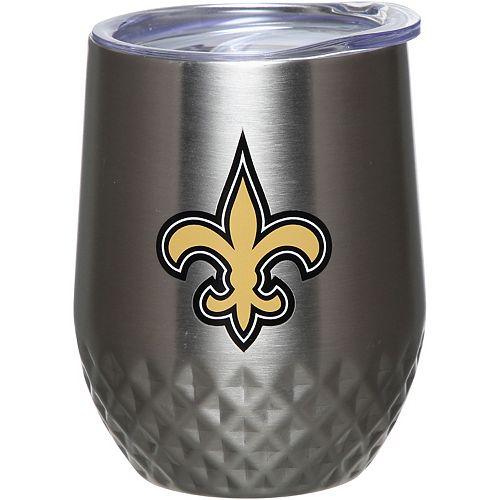 New Orleans Saints 12oz. Stainless Steel Stemless Diamond Tumbler