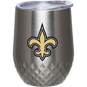 New Orleans Saints 12oz. Stainless Steel Stemless Diamond Tumbler