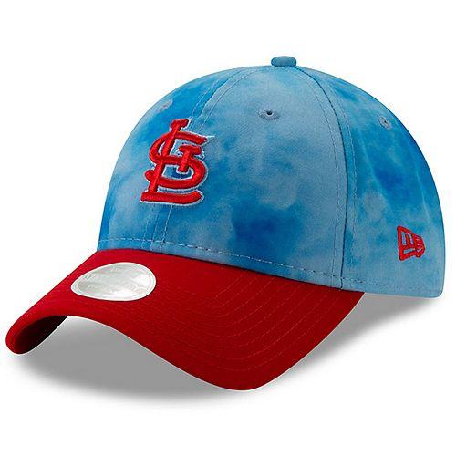 Women's New Era Blue/Red St. Louis Cardinals 2019 Father's Day 9TWENTY Adjustable Hat