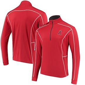 Men's Columbia Red Los Angeles Angels Shotgun Quarter-Zip Pullover Jacket