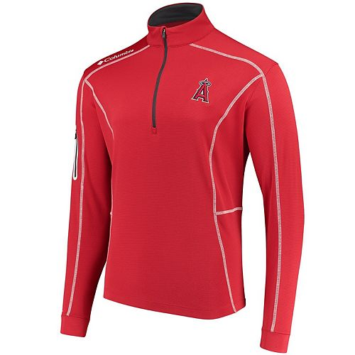 Men's Columbia Red Los Angeles Angels Shotgun Quarter-Zip Pullover Jacket