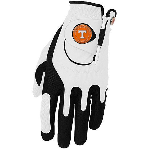 Men's White Tennessee Volunteers Left Hand Golf Glove & Ball Marker Set