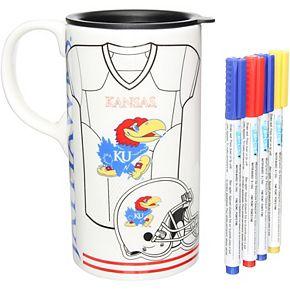 Kansas Jayhawks Just Add Color Tall Boy Mug
