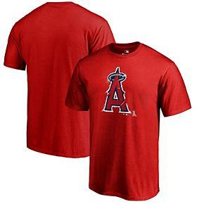 Men's Fanatics Branded Red Los Angeles Angels Splatter T-Shirt
