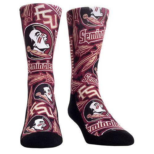 Women's Garnet Florida State Seminoles Logo Sketch Crew Socks