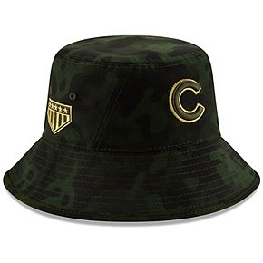 Chicago Cubs New Era 2019 MLB Armed Forces Day Bucket Hat - Camo