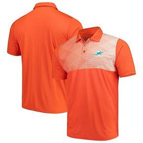 Men's Antigua Orange/White Miami Dolphins Tactic Polo