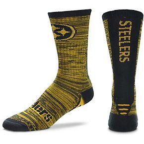 Men's For Bare Feet Pittsburgh Steelers Jump Jolt Crew Socks