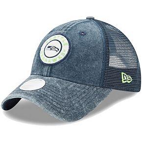 Women's New Era College Navy Seattle Seahawks Perfect Patch 9TWENTY Adjustable Snapback Hat