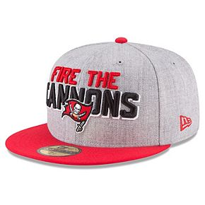 Men's New Era Heather Gray/Red Tampa Bay Buccaneers 2018 NFL Draft Official On-Stage 59FIFTY Fitted Hat