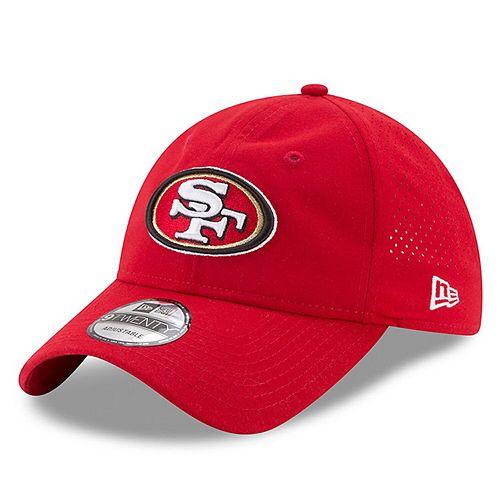 Men's New Era Scarlet San Francisco 49ers 2017 Training Camp Official 9TWENTY Adjustable Hat