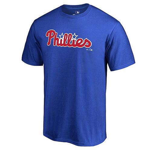 Men's Fanatics Branded Royal Philadelphia Phillies Team Wordmark T-Shirt