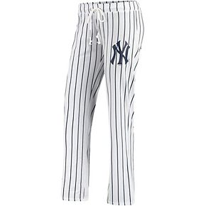 Women's Concepts Sport White New York Yankees Vigor Pinstripe Sleep Pant