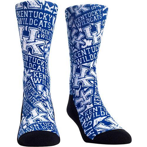 Men's Kentucky Wildcats Logo Sketch Crew Socks