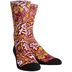 Youth Maroon Arizona State Sun Devils Logo Sketch Crew Socks