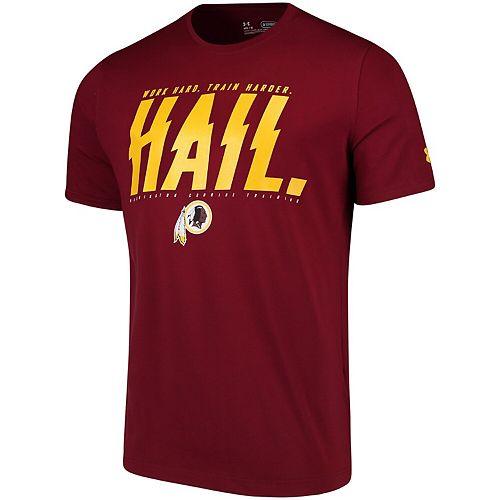 Men's Under Armour Burgundy Washington Redskins Combine Authentic Team Verbiage T-Shirt