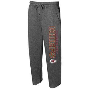 Men's Concepts Sport Heather Charcoal Kansas City Chiefs Quest Knit Lounge Pants