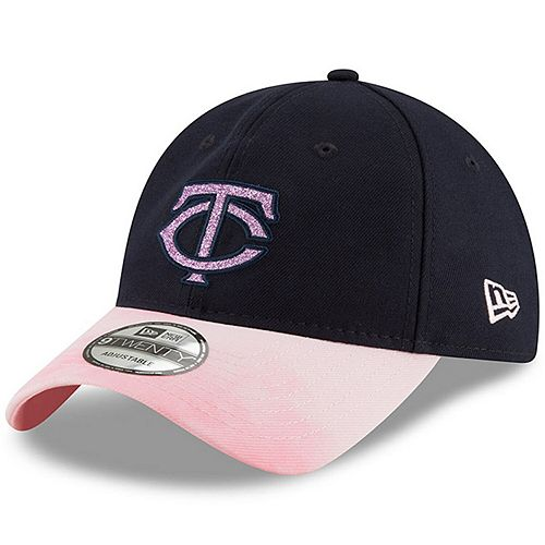 Minnesota Twins New Era Women's 2019 Mother's Day Team Glisten 9TWENTY Adjustable Hat - Navy/Pink