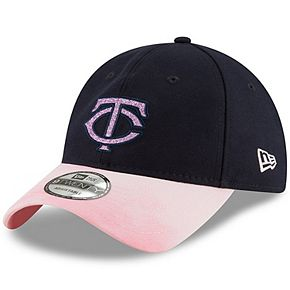 Minnesota Twins New Era Women's 2019 Mother's Day Team Glisten 9TWENTY Adjustable Hat - Navy/Pink