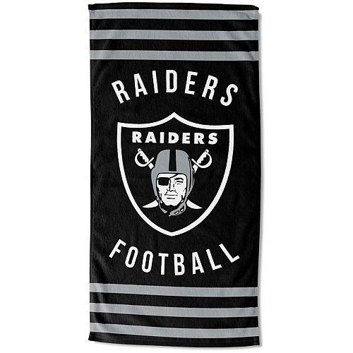 "The Northwest Company Oakland Raiders 30"" x 60"" Striped Beach Towel"