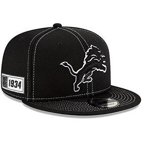 Men's New Era Black Detroit Lions 2019 NFL Sideline Road 9FIFTY Snapback Adjustable Hat