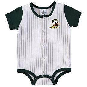 Infant Colosseum White/Green Oregon Ducks Sultan of Swat Baseball Bodysuit