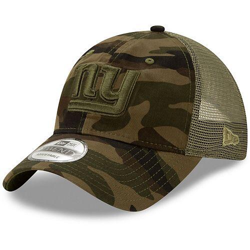 Men's New Era Camo New York Giants Tonal Trucker 9TWENTY Adjustable Snapback Hat