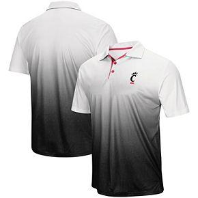 Men's Colosseum Gray Cincinnati Bearcats Magic Team Logo Polo