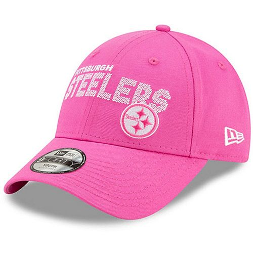 Girls Toddler New Era Pink Pittsburgh Steelers Scribble 9FORTY Adjustable Hat