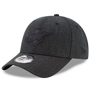 Men's New Era Black Miami Dolphins Heathered Hue 49FORTY Fitted Hat