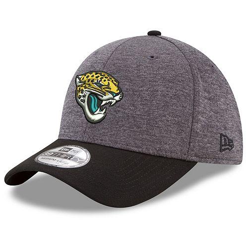 Men's New Era Heathered Gray/Black Jacksonville Jaguars Shadow Tech 39THIRTY Flex Hat