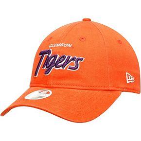 Women's New Era Orange Clemson Tigers Retroscript 9TWENTY Adjustable Hat