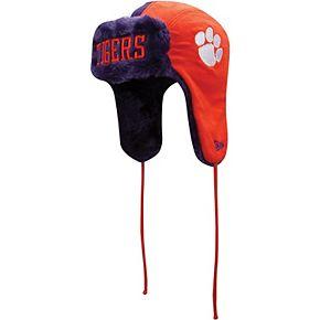 Men's New Era Orange/Purple Clemson Tigers Helmet Trapper Knit Hat