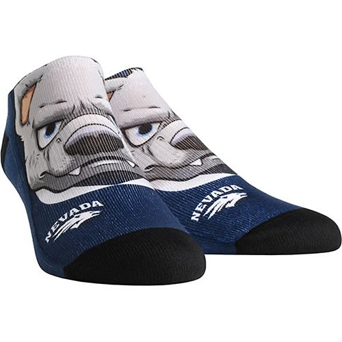 Men's Nevada Wolf Pack Mascot Low Ankle Socks