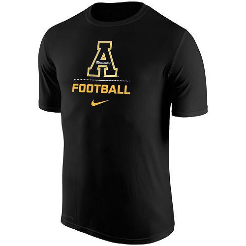 Men's Nike Black Appalachian State Mountaineers Football Sport Legend Performance T-Shirt