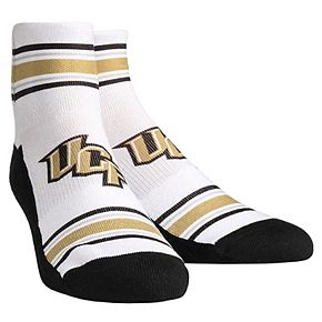 Youth White UCF Knights Classic Stripes Quarter-Length Socks