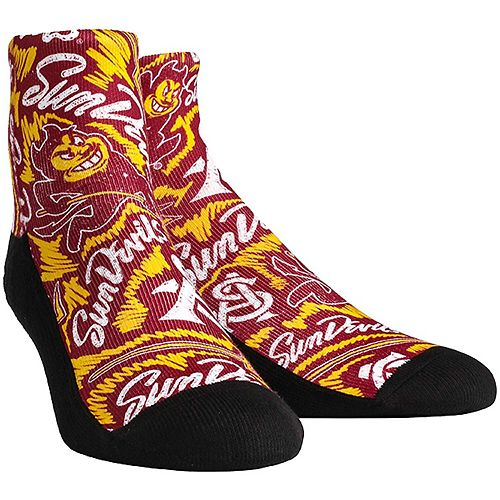Men's Arizona State Sun Devils Logo Sketch Quarter-Length Socks