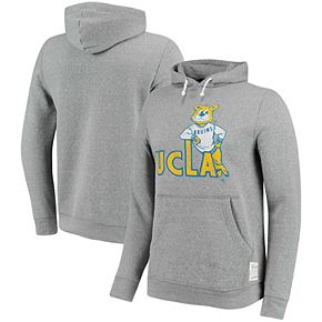 Men's Original Retro Brand Gray UCLA Bruins School Logo Tri-Blend Hoodie