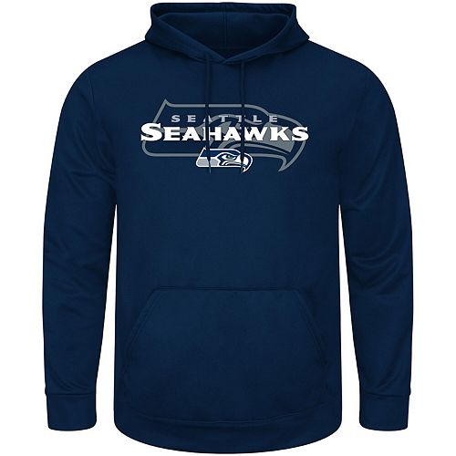 Men's College Navy Seattle Seahawks Pick Six Pullover Hoodie