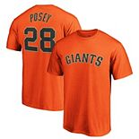 Men's Majestic Buster Posey Orange San Francisco Giants Official Player Name & Number T-Shirt