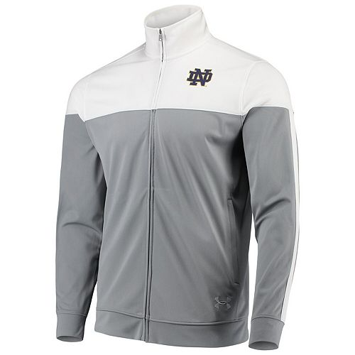 Men's Under Armour White Notre Dame Fighting Irish College Track Jacket