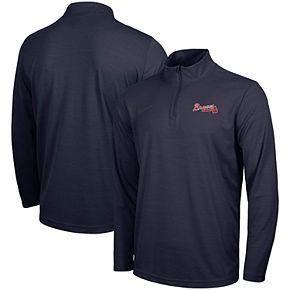 Men's Nike Navy Atlanta Braves Intensity Performance Quarter-Zip Pullover Jacket