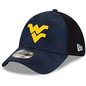 Men's New Era Navy West Virginia Mountaineers Camo Neo Front 39THIRTY Flex Hat