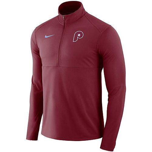 Men's Nike Maroon Philadelphia Phillies Dry Element Half-Zip Performance Pullover