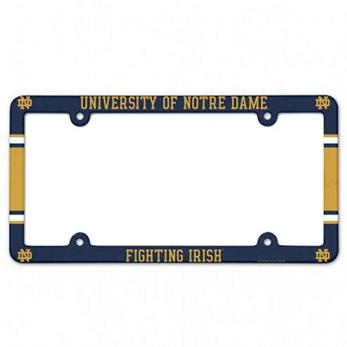 WinCraft Notre Dame Fighting Irish Team Full Color License Plate Frame