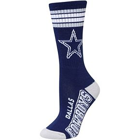Women's For Bare Feet Dallas Cowboys Four Stripe Socks