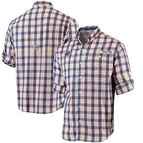 Men's Columbia Royal Florida Gators Super Tamiami Long Sleeve Button-Down Omni-Shade Shirt