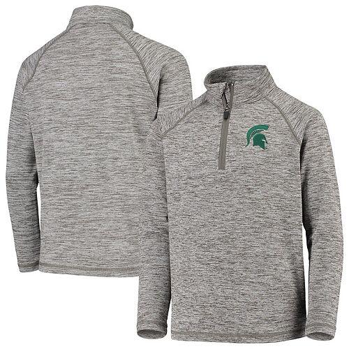 Youth Garb Gray Michigan State Spartans Matthew Quarter-Zip Pullover Sweatshirt